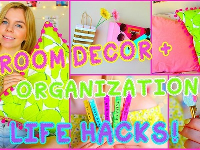 DIY Room Decor & Organization Life Hacks!