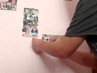 DIY: Room Decor Frames With JUSTIN BIEBER stickers