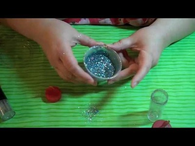 Glitter leftovers || DIY Craft Projects