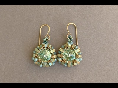 Half Tila Earrings - Beaded earrings tutorial by Sidonia's handmade jewelry