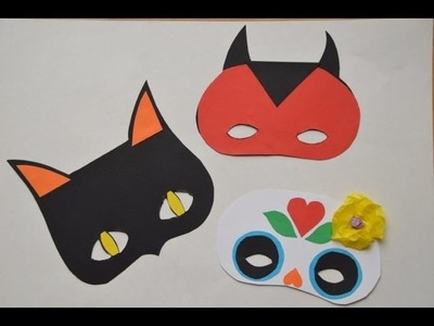 Halloween Crafts -- Halloween Masks for Kids