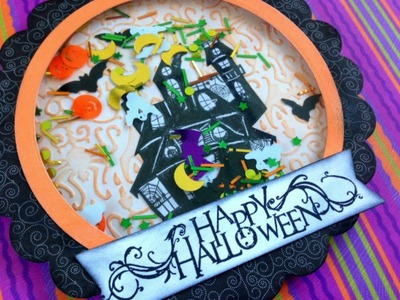 Halloween Shaker Card Tutorial | Serena Bee's Halloween Craft Series 2014  #1