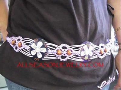 Handmade Women Beads Belt Wooden Clasps Wood Buckle