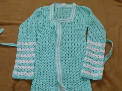 How to crochet a simple Vintage cardigan for all season