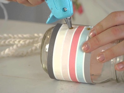 How to Decorate Pint Size Jars : Knitting & Jar Crafts