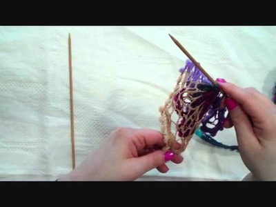 How to knit a scarf using Sirdar Aruba