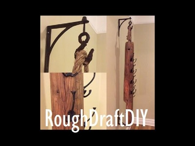 How to make a coat rack --by RoughDraft DIY