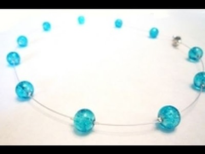 How to Make a Floating Illusion Necklace - Jewelry-making Tutorial