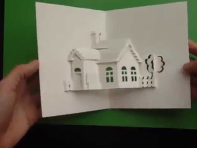 How to Make a House Pop-Up Card, Origamic Architecture Tutorial