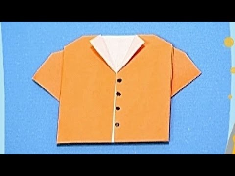How to make a Paper Shirt (Tutorial) - Paper Friends 19 | Origami for Kids