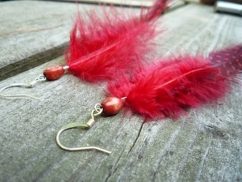 How to Make Feather Earrings -- Quick and Simple Jewelry-making Tutorial