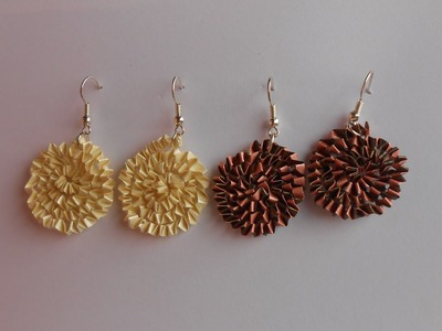 How to make Paper Quilling Free Form Earrings