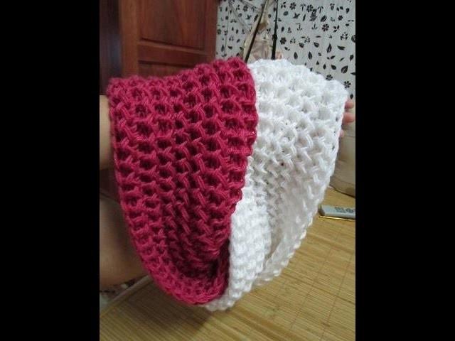 [How to make] Scarf Knitting Pattern - Hướng dẫn đan khăn kiểu xương cá