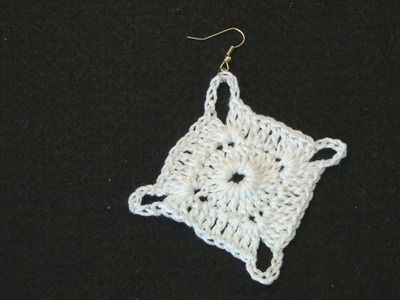 Left Hand Crochet - Crochet Earring Irene Left Hand Version Crochet Geek