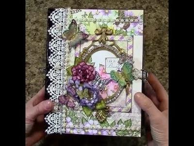 PART 1 TUTORIAL HEARTFELT CREATIONS BUTTERFLY MEDLEY MINI ALBUM - DESIGNS BY SHELLIE