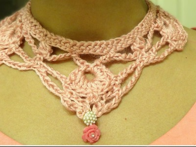 Part 2: How to crochet necklace and earring