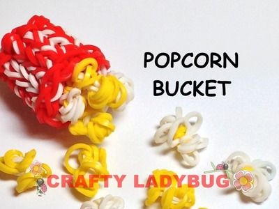 Rainbow Loom POPCORN BUCKET Advanced Charm Tutorial by Crafty Ladybug. Wonder Loom, DIY LOOM