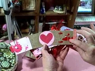 Recycling a Coffee Sleeve into a Valentine's Day Mini Scrapbook Album