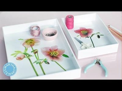 Spring Flowers Decoupage Trays - DIY Style - Martha Stewart