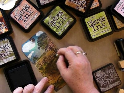 Tim Holtz Distress Inks Scenery Tags Tutorial Part Two
