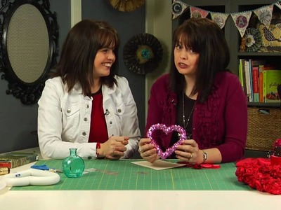 Valentine Crafts - How to Make Paper Roses, Satin Flowers