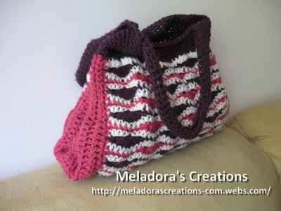 Wavy Stitch Handbag - Left Handed Crochet Tutorial