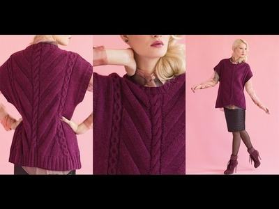 #20 Cable and Chevron Top, Vogue Knitting Holiday 2014