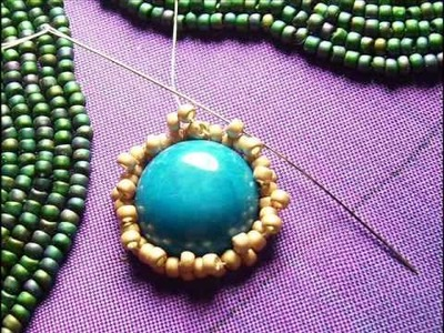 Bead Embroidery - Beading a Cabochon