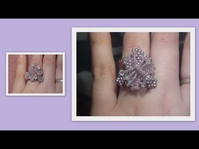 Beaded Flower ring Beading Tutorial by HoneyBeads1 (Photo tutorial)
