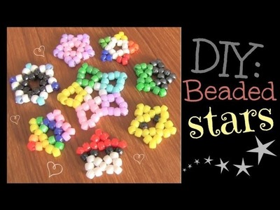 Beaded Star Charm - Kandi Pendant - How To