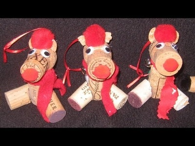 Christmas Craft: How to make Cork Bear Ornaments