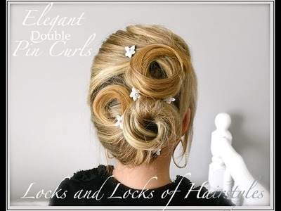 Classic Pin Curl Updo for long or medium hair