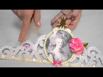 Crafting with Brenda Walton: How to create an elegant paper crown.