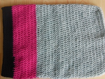 Crochet laptop sleeve. notebook bag - tutorial