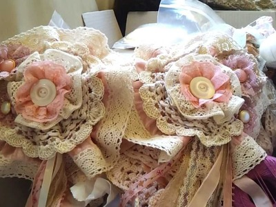 Crochet Shabby Chic Bunting and Shabby Flowers