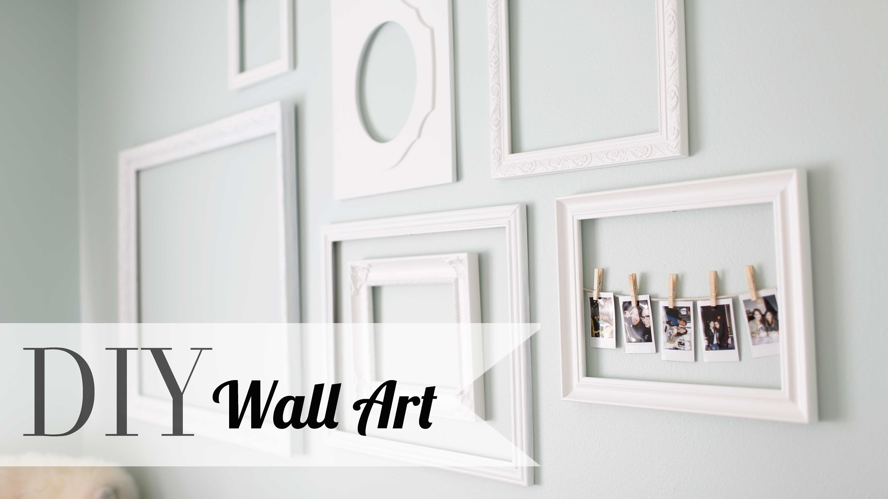 DIY Chic Wall Art & Polaroid Display | Home Decor  | ANNEORSHINE