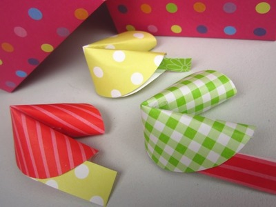 {DIY Christmas}❄Paper Fortune Cookies