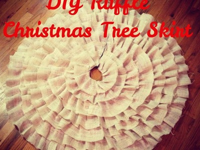 DIY Christmas Tree Ruffle Skirt (NO SEW)