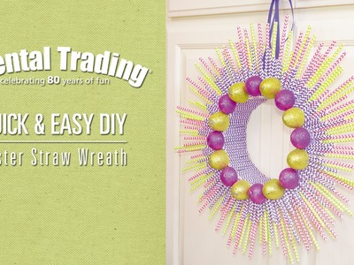 DIY Easter Paper Straw Wreath