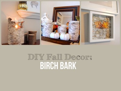 DIY Fall Decor: Birch Bark