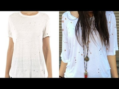 DIY Fashion | Edgy T-Shirt With Holes | Designer DIY