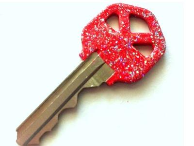 DIY: Glitter Nail Polish Keys