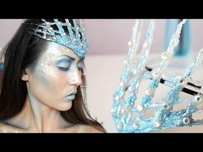 DIY Ice Queen Crown Hot Glue - ShelingBeauty