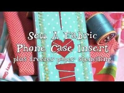 DIY Interchangeable Phone Case Inserts (Freezer-Paper Stencils)