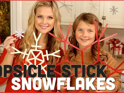 DIY Popsicle Stick Snowflakes!!