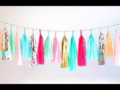 DIY Tassel Garland | BeautybyBlaire