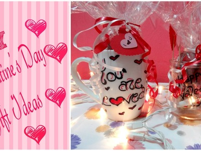 DIY Valentine's Day Gift Ideas. DIY Sharpie Mug + Jar of Hearts