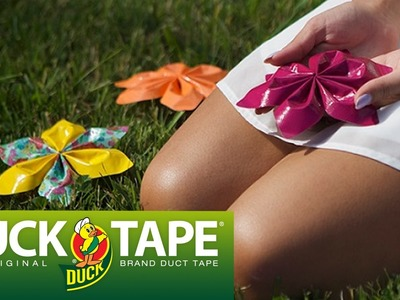 Duck Tape Crafts: How to Make a String Flower with LaurDIY
