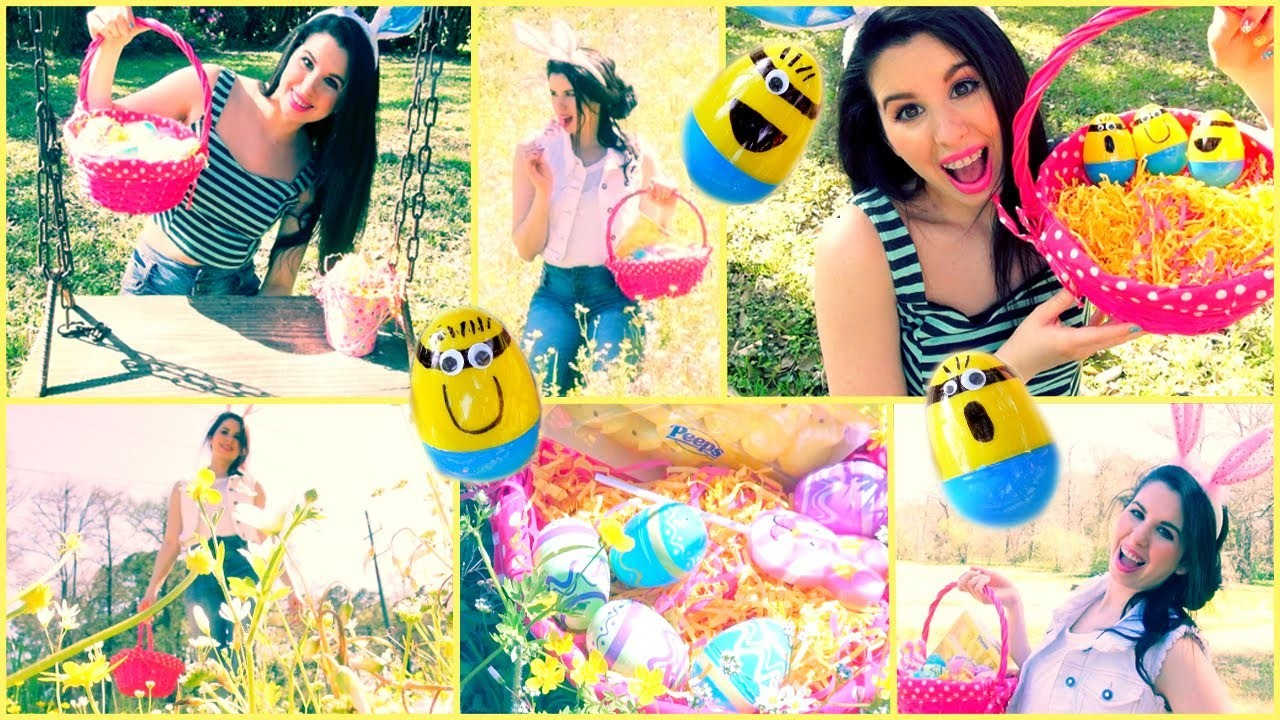 Easter Makeup, Hair & DIY Minion Easter Eggs!