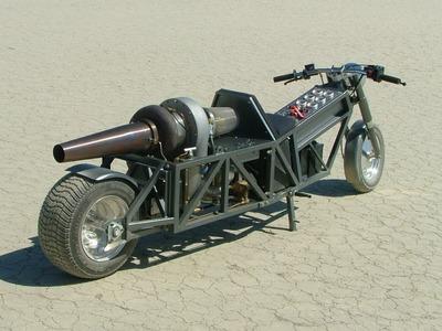 GRV-2 DIY Turbine Jet Bike - Trial Runs - 52.1 MPH